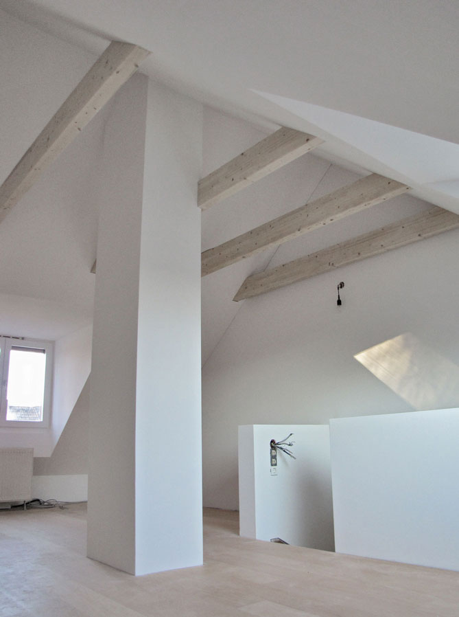 ausbau dachgeschoss rechts noch ohne einbauten